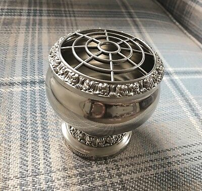 Lovely Vintage Ianthe Silver Plated Rose Bowl