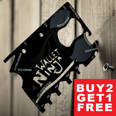 Wallet Ninja 18 in1 Multi-Tool Card Tool Pocket Size Screwdriver Bottle Opener