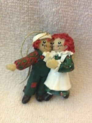 Vintage 1998 Raggedy Ann And Andy Ornament By S&s