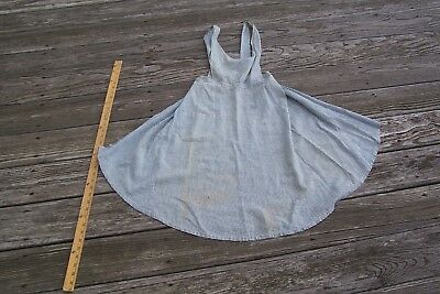 Vtg 1800's early 1900's Childs Bib Apron Blue and White Gingham Fabric Cutter
