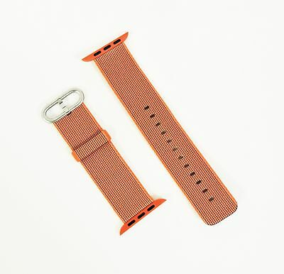 Genuine Apple Woven Nylon Band for Apple Watch 42mm Space Orange/Anthracite