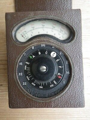 Vintage AVO Exposure Light Meter, Original Leather Box and Original instructions