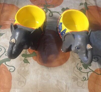 Ringling Brothers Greatest Show On Earth Circus  Set Of 2 Elephant Mug Preowned