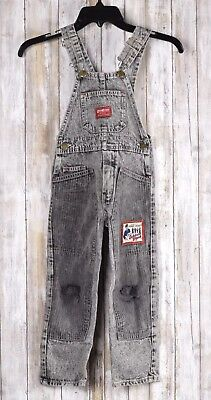 OshKosh Bib Overalls Gray Size 5 Vintage Made in USA United Workers