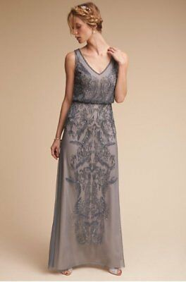 c87010e919 New Bhldn Anthropologie Adrianna Papell Aubrey Beaded Blouson Gown Dress  Size 0
