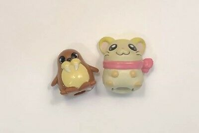 Hamtara Pencil Topper Hamster And Walrus Kawaii Stationary Lot
