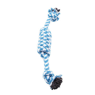 Lovely Puppy Dog Pet Chew Toy Cotton Braided Bone Rope Colors Chew Knot Toy LH