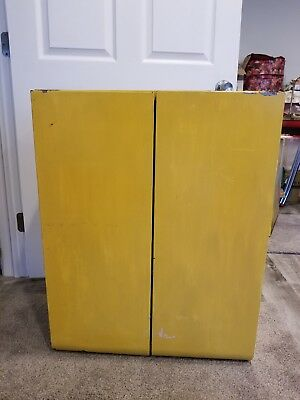 """Vintage Metal Industrial Old Paint Cabinet Wall Or Stand. 31 1/2"""" H× 24L× 12 W"""