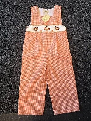 Classy Couture Smocked Thanksgiving Overalls
