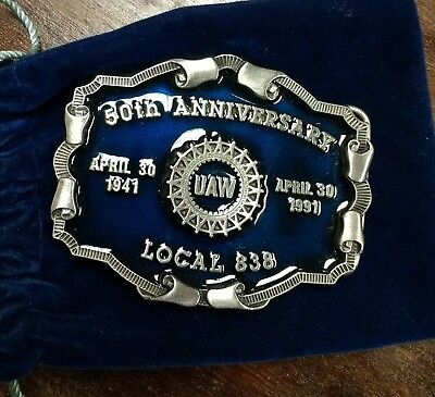 John Deere UAW Local 838 50th Anniversary 1941 Belt Buckle!