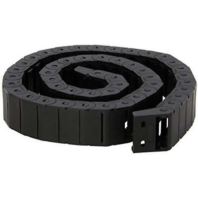15Mm X 30Mm Black Plastic Semi Closed Drag Chain Cable Carrier 1M *New*