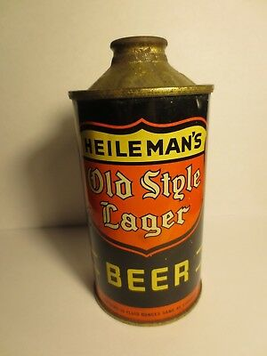 1938 Heileman's Old Style Lager Can Cone Top Low Profile