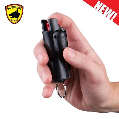 Guard Dog Accufire Keychain Pepper Spray with laser sight (Black)