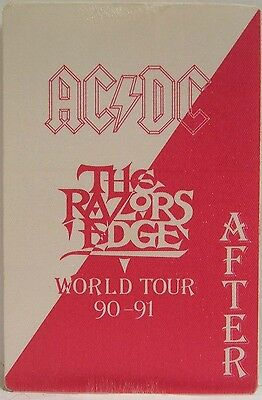 Ac/dc - Vintage Original Cloth Concert Tour Backstage Pass