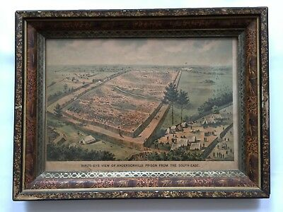 Civil War Antique Print - Birds-Eye View Of Anderson Prison From The South-East