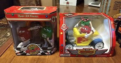 M&M's Rock 'n Roll Cafe And Rebel Without A Clue Candy Dispensers Vintage