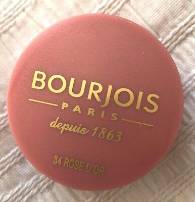 New Bourjois Blusher ROSE D'OR 34 with mini brush inside