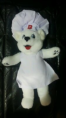 Bimbo Bakery Bread Polar Bear Stuffed Animal Plush Chef Mascot Collectible NEW