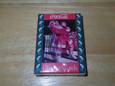 1993 Coca-Cola Brand Coke Christmas Playing Cards - Santa Limited Edition - New