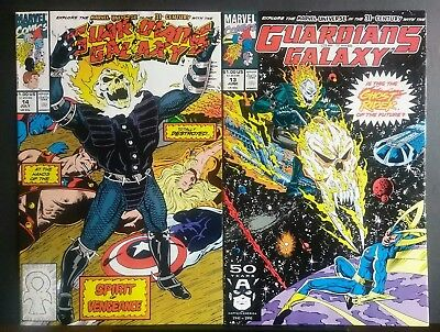 GUARDIANS of the GALAXY #13 & #14 VF/NM 1st App. COSMIC Ghost Rider 1991 Marvel