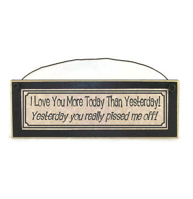 I Love You More Today Than Yesterday Vinyl Quote Me Wall Art