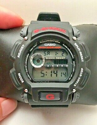 Casio DW-9052 Mens G-Shock Chronograph Watch 200M WR Resin Black Sports H77