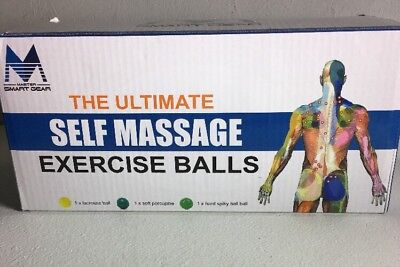 NEW Massage Ball Roller Set  Spiky and Lacrosse Physical Therapy Balls