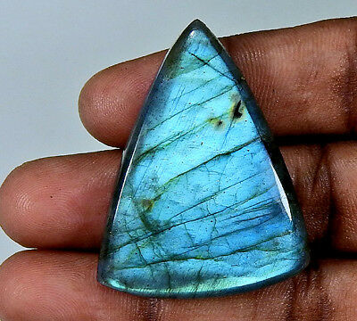 "Natural ""Alluring"" Blue labradorite Cabochon Gemstone Fancy 82.90cts.;#22844"