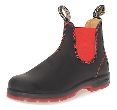 Black Red Womens Leather Boots Blundstone 1316 Heritage 550 Series