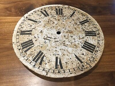 "Vintage 14"" Metal Clock Face"
