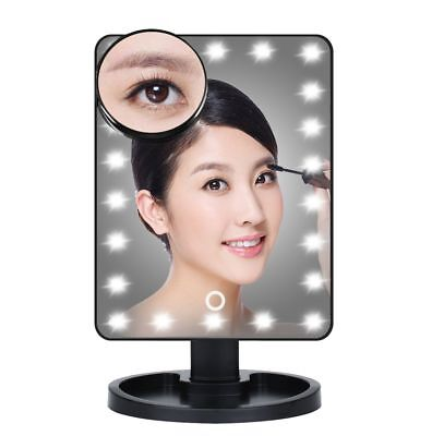 22 LED 10 Magnifying Touch Screen Light Make Up Cosmetic Table Top Vanity Mirror