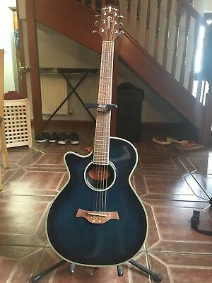 Crafter FX550EQ left-handed Electro-acoustic bowl back guitar ***rare lefty!***