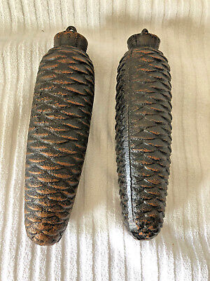 Pair Large Pinecone Cuckoo Clock Weights 2Lbs 14Oz