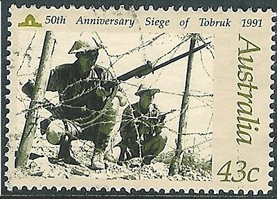 1991 In Memory of Those Who Served - 43c Siege of Tobruk Used