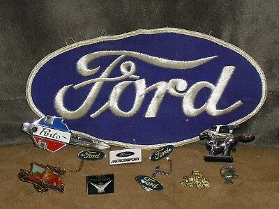 Vintage Ford Collectibles ~ Patch, Pins, Emblem ~ Pinto, Mustang, Model T, More