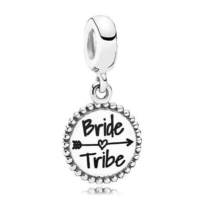 Authentic Pandora Sterling Silver Bride Tribe Dangle Charm Eng791169 31