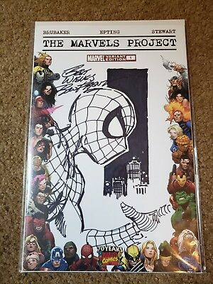 The Marvels Projects #1 Blank Variant Edition Ron Frenz Orginal Sketch Spiderman