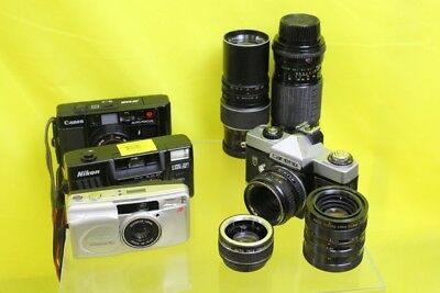 Vintage Job Lot of Cameras and Lenses #DAF