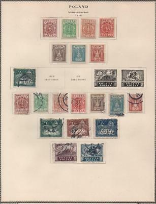 POLAND: 1919 Examples - Ex-Old Time Collection - Album Page (18910)