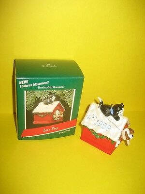 Hallmark 1989 Let's Play Ornament Dog's Head and Cat's Tail Move MIB