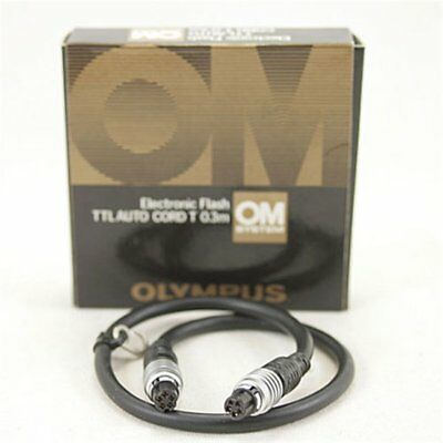 Olympus TTL Auto Cord T 0.3m Flash Cable Boixed XLNT