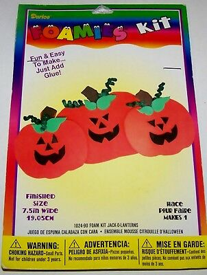 darice foamies halloween foam craft kit jack o lanterns makes 1