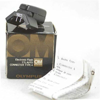 Olympus TTL Auto Connecter Flash Conector Type 4 OM-2n OM-1n for T32 Boxed
