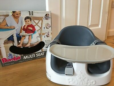Bumbo Multi Seat with Safety Seat Straps & Play / Feeding Tray GREY - RRP £49.99