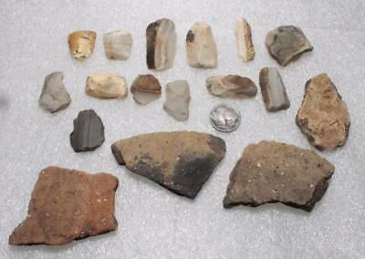 many end scrapers with shards european Neolithic 4-5000 BC