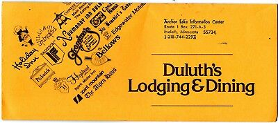 Minnesota Travel Brochure Duluth Dining & Lodging Guide 1960s grc1