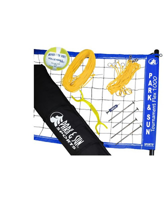 Park and Sun tournament flex 1000 volleyball set with Blue net Free Shipping NEW