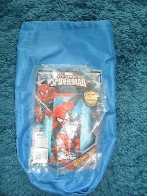 Child's sleeping bag - spiderman design on front and remainder blue