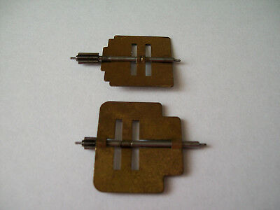 Vintage clock fly pinions x two spare parts