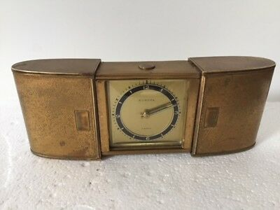 antique 7 Jewels Europa travel clock for spares and repair